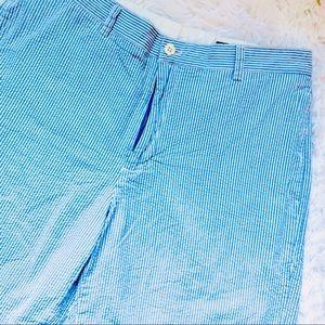 VINEYARD VINES • Blue Seersucker Breaker Shorts
